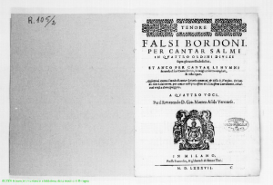 Falsi Bordoni for the Psalms