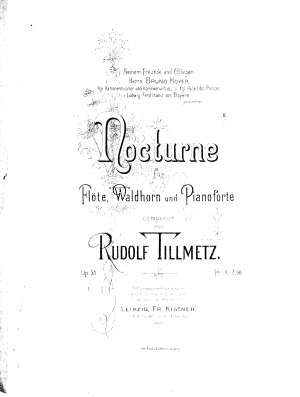 Nocturne for Flute, Horn and Piano, Op.31