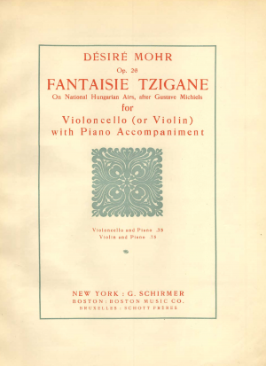Fantaisie Tzigane on National Hungarian Airs, Op.26