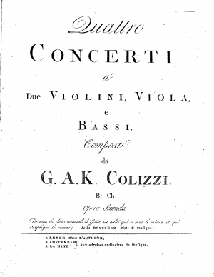 4 Concerti for String Quartet
