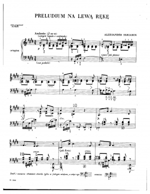 Prelude and Nocturne for the LH, Op.9