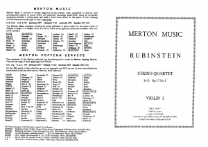 String Quartet No.1