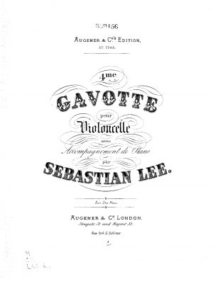 Gavotte No.4 for Cello and Piano, Op.117