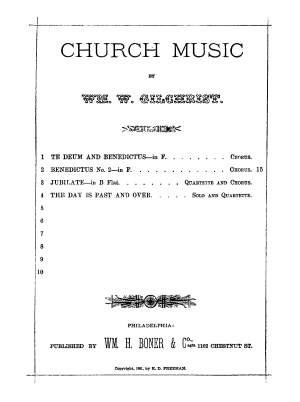 Benedictus No. 2 in F