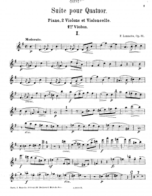 Suite for Piano Quartet, Op.51