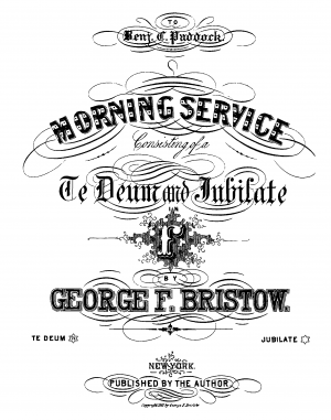 Morning Service in F major, Op.58