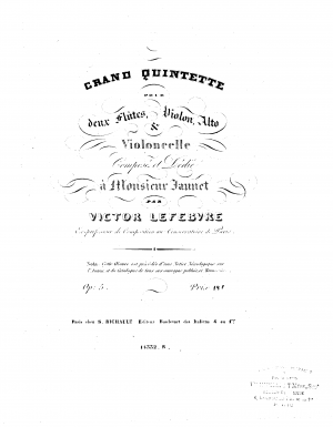 Quintet for Two Flutes and Strings, Op.5
