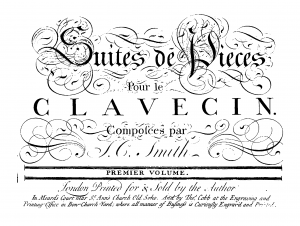 Suites de Pieces pour le Clavecin. Premier Volume