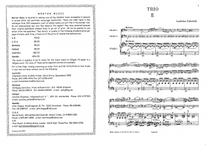 3 Trios for 2 Violins and Piano