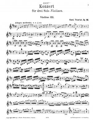 Concerto for 3 Violins and Orchestra