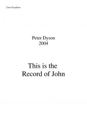 This is the Record of John