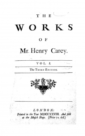 The Works of Mr. Henry Carey