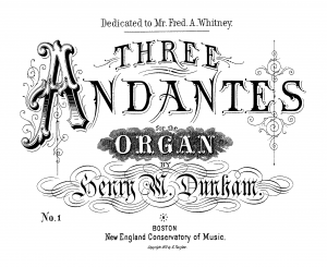 3 Andantes for the Organ