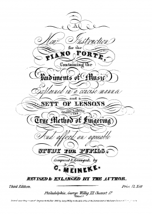 New Instruction for the Piano Forte