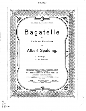 2 Bagatelles for Violin and Piano