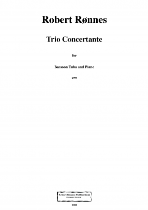 Trio Concertante for Bassoon, Tuba and Piano