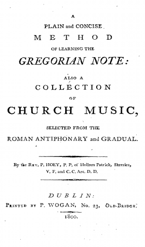 A Plain and Concise Method of Learning the Gregorian Note