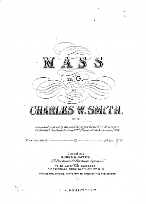 Mass No.1 in G minor