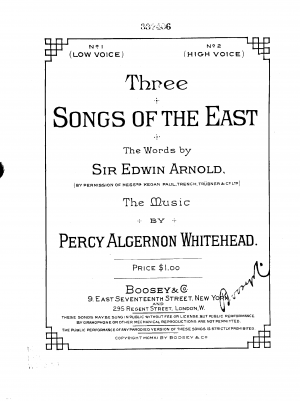 Three Songs of the East