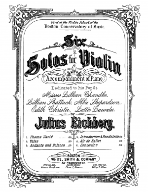 6 Solos for Violin and Piano