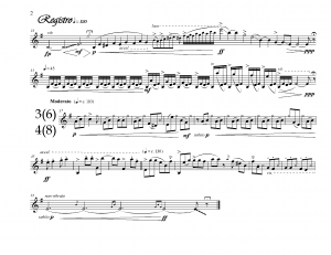 Work for alto saxophone solo