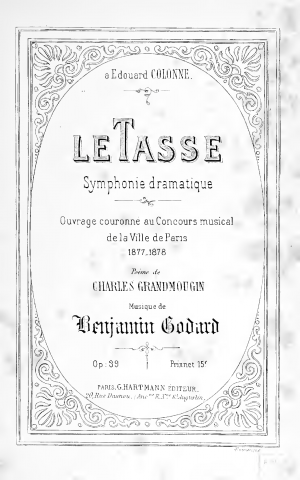 Le Tasse, Symphonie dramatique for Soli, Chorus and Orchestra