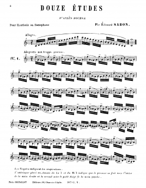 12 Etudes for oboe or saxophone