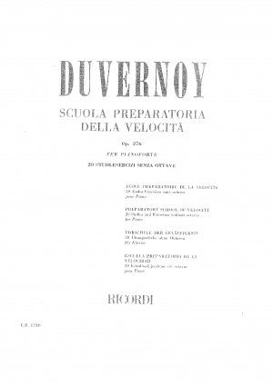 Preparatory School of Velocity, Op.276. 20 Studies and Exercises without octaves