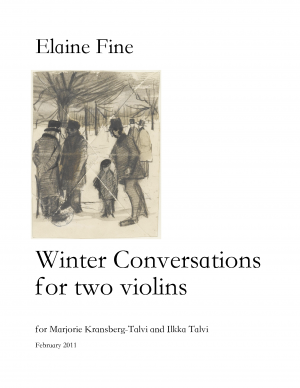 Winter Conversations for 2 Violins