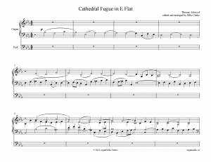 Cathedral Fugue in E flat major