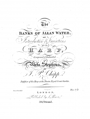 The Banks of Allan Water, with Introduction & Variations for Harp