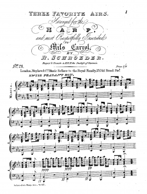 Airs Arranged for the Harp