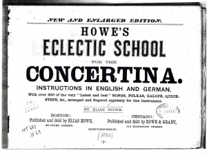 Howe's Eclectic School for the Concertina. Instructions in English and German. With over 200 of the very