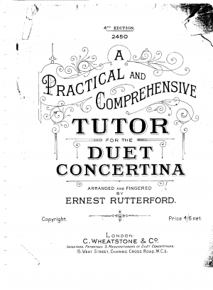 A Practical and Comprehensive Tutor for the Duet Concertina
