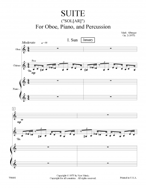 Suite for Oboe, Piano, and Percussion