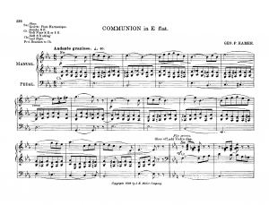 Communion in E-flat major