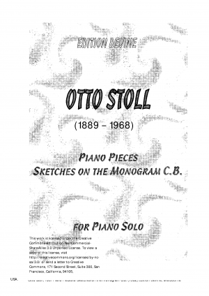 Four Piano Pieces & Sketches on the Monogram C.B.