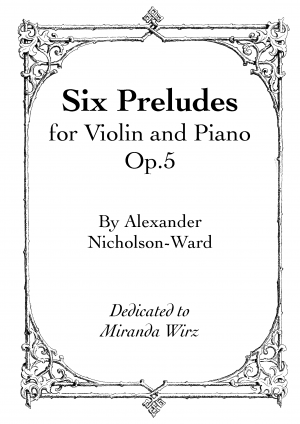 Six Preludes for Violin and Piano